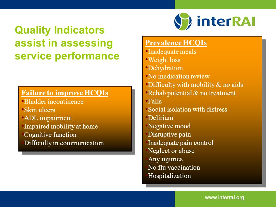 Quality Indicators assist in assessing service performance
