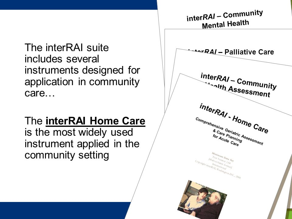interRAI – Community Mental Health