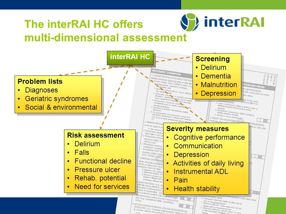 The interRAI HC offers multi-dimensional assessment