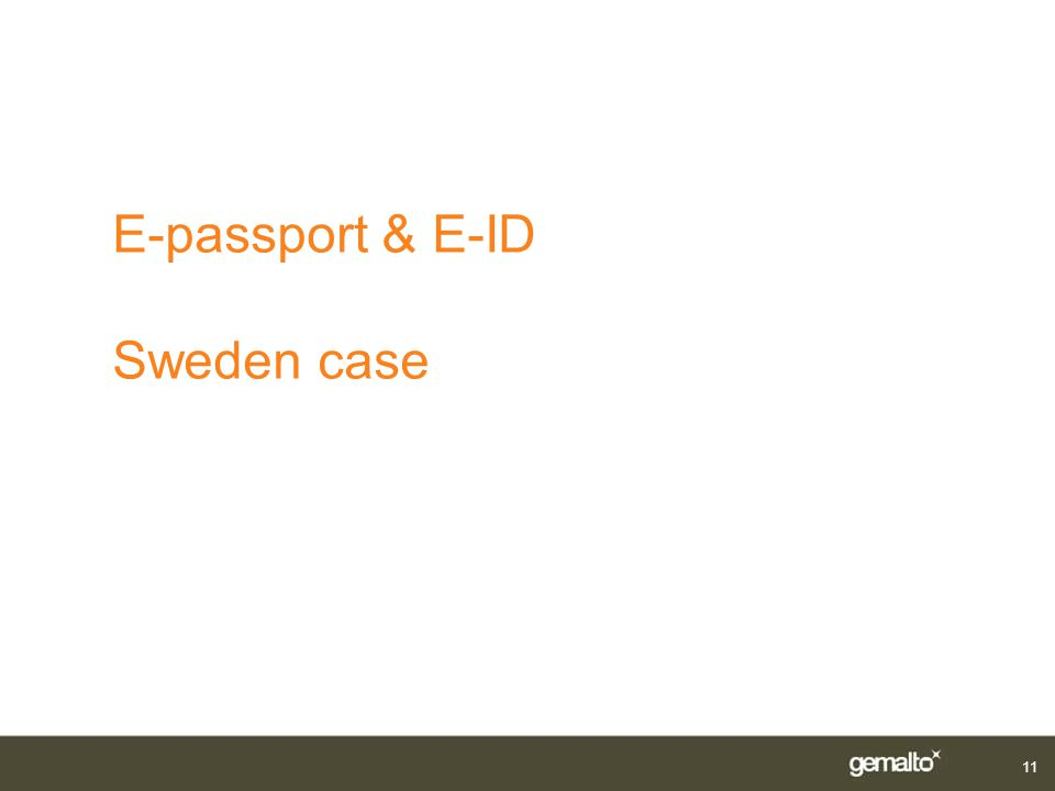 E-passport & E-ID Sweden case