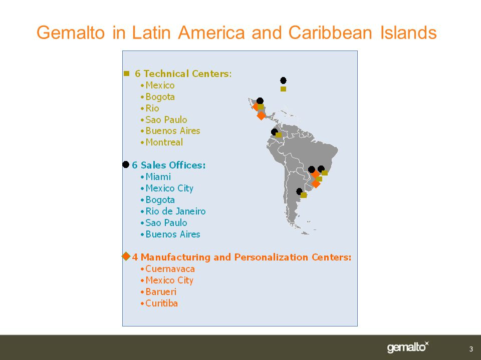 Gemalto in Latin America and Caribbean Islands