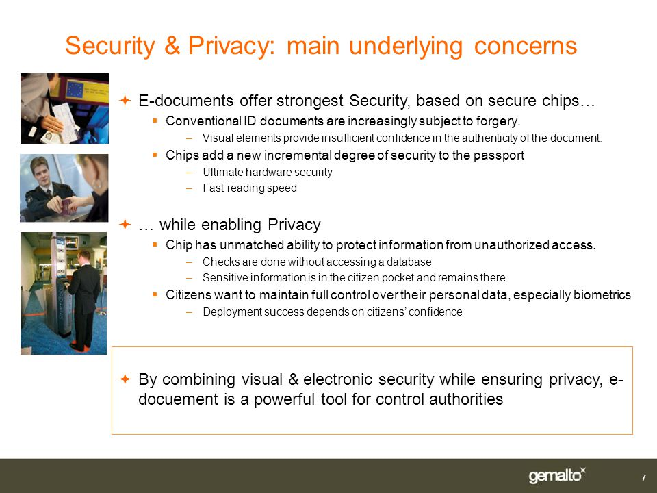 Security & Privacy: main underlying concerns