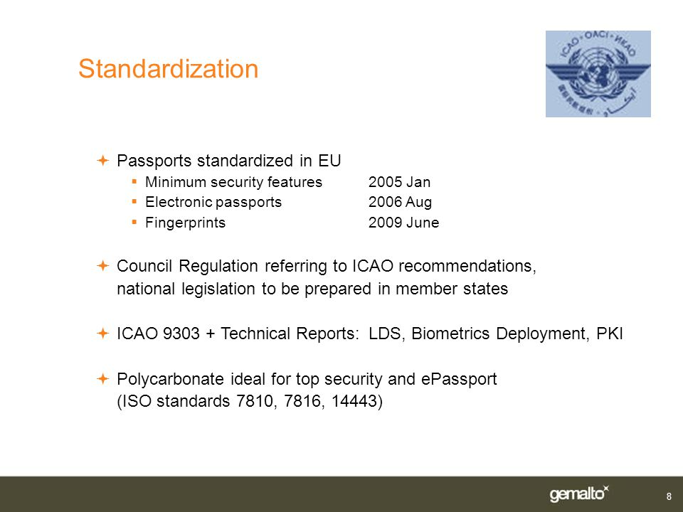 Standardization Passports standardized in EU