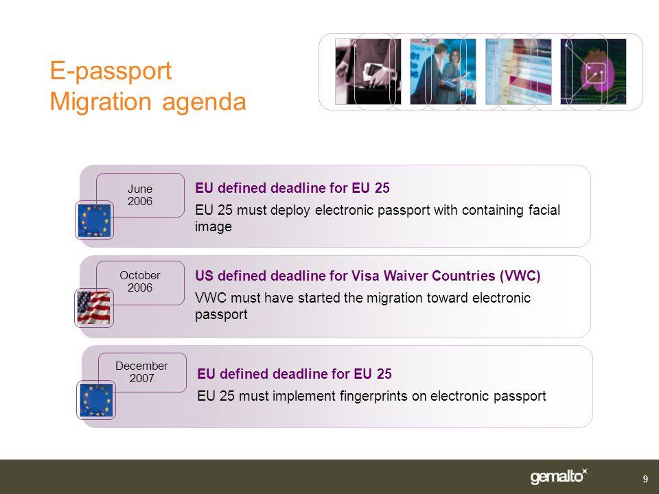 E-passport Migration agenda