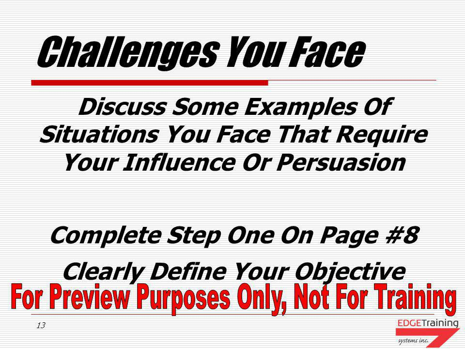 Complete Step One On Page #8 Clearly Define Your Objective
