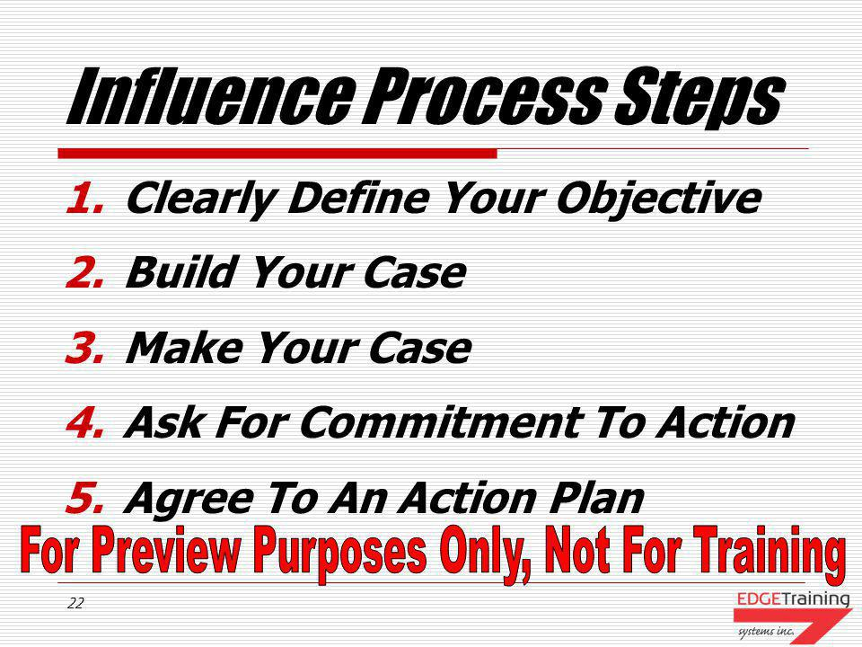 Influence Process Steps