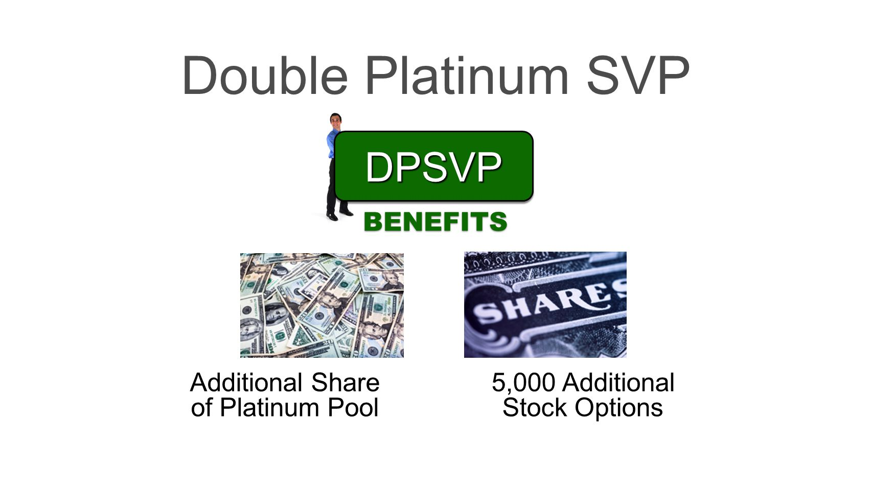 Double Platinum SVP DPSVP BENEFITS Additional Share of Platinum Pool