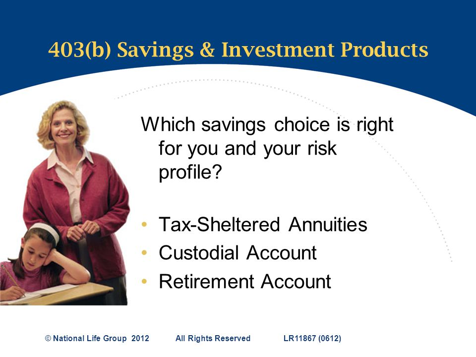 403(b) Savings & Investment Products
