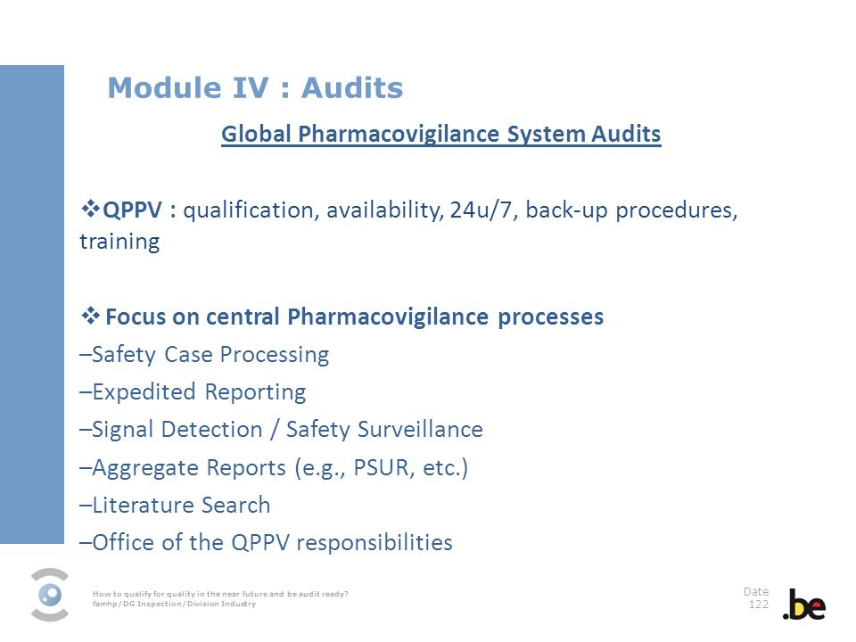 Global Pharmacovigilance System Audits