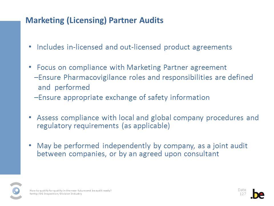 Marketing (Licensing) Partner Audits