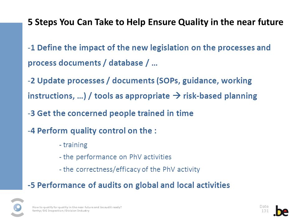 5 Steps You Can Take to Help Ensure Quality in the near future