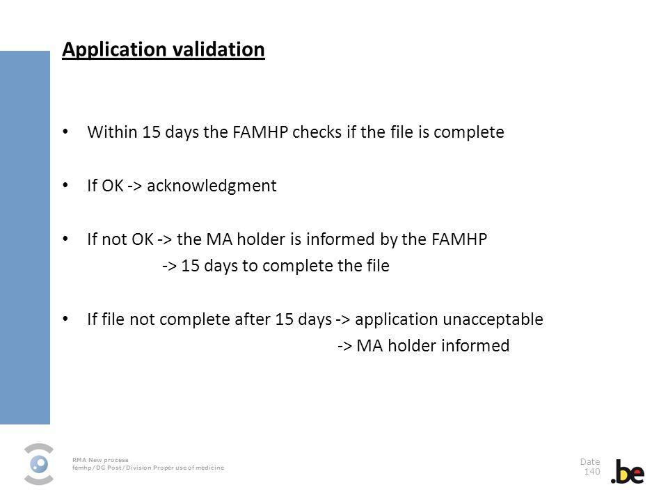 Application validation