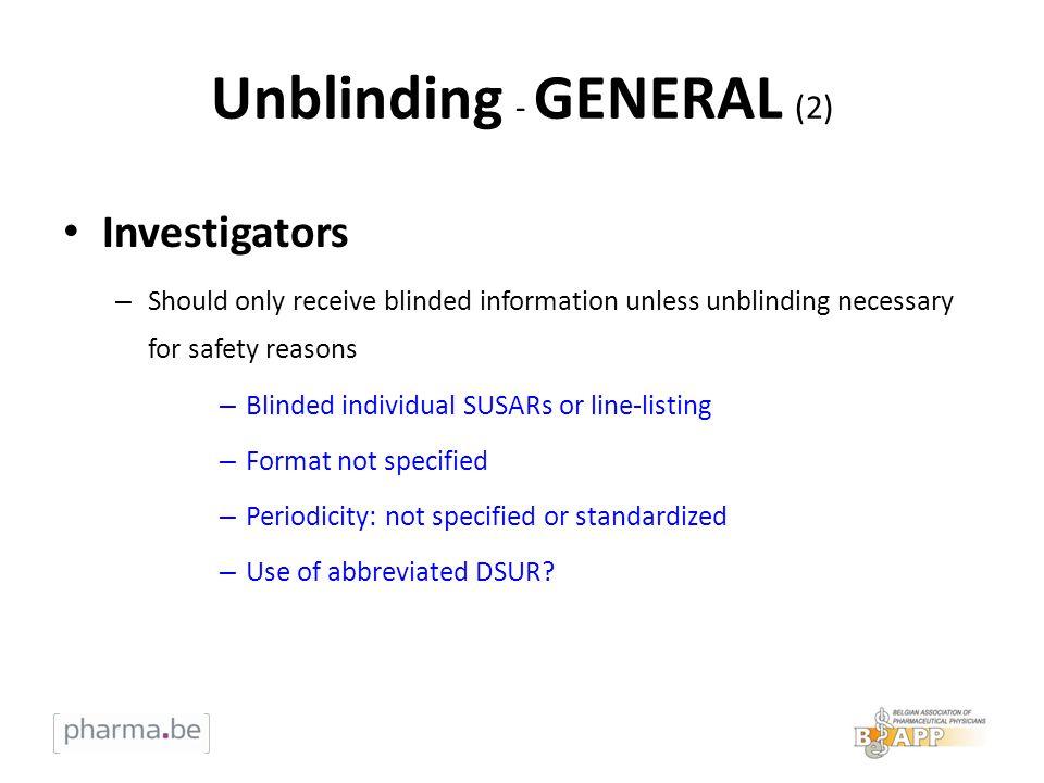 Unblinding - GENERAL (2)