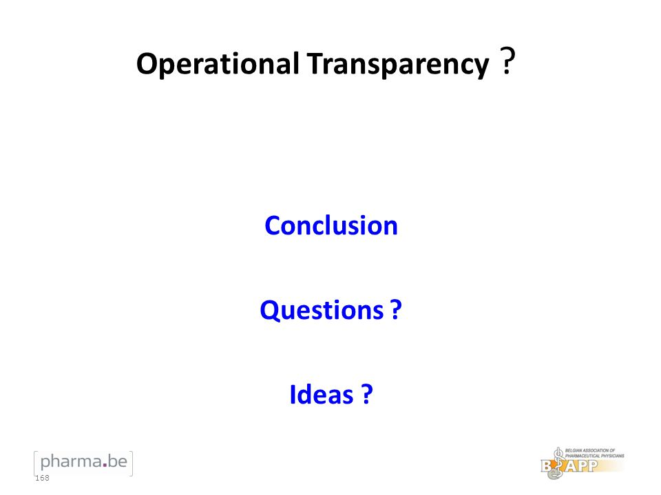 Operational Transparency