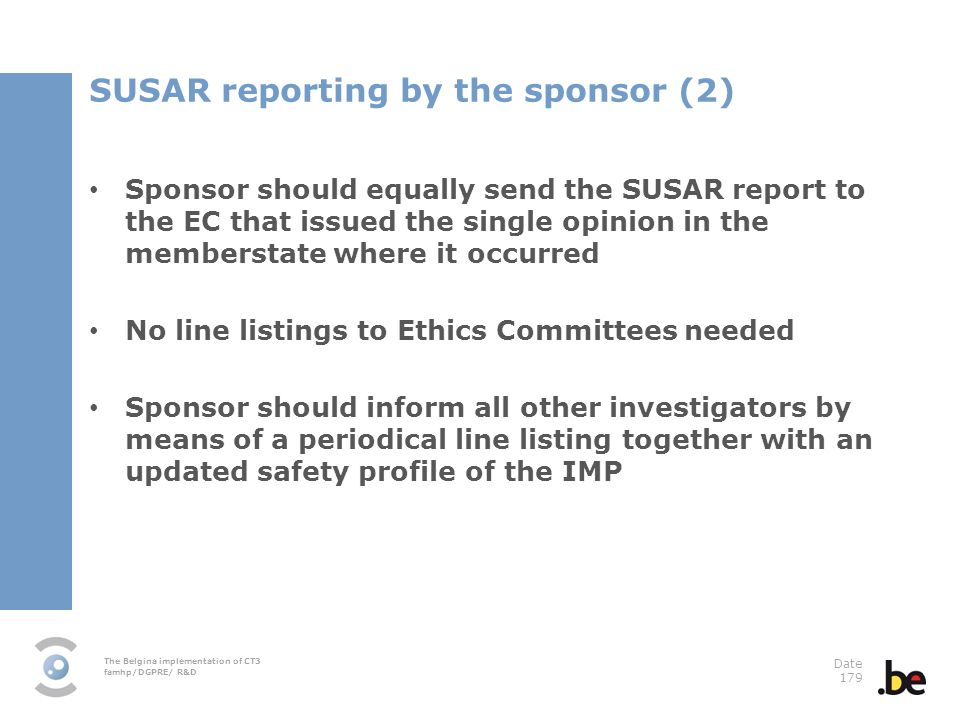SUSAR reporting by the sponsor (2)
