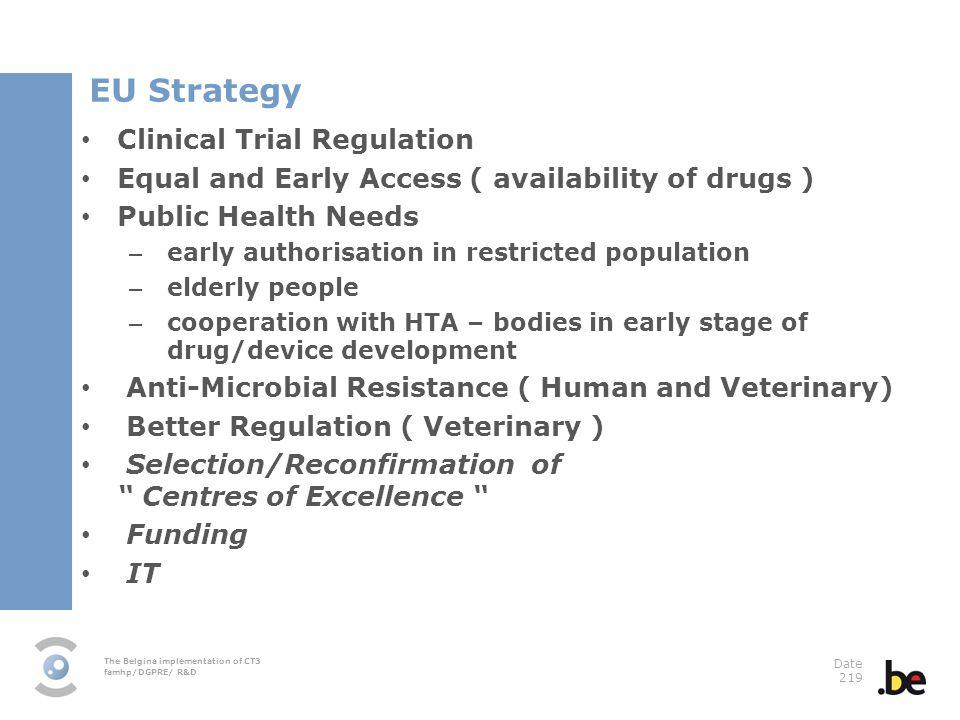 EU Strategy Clinical Trial Regulation