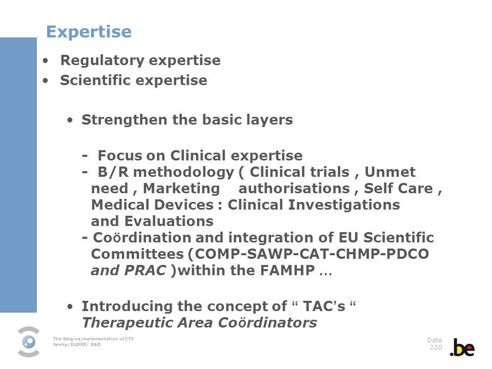 Expertise Regulatory expertise Scientific expertise