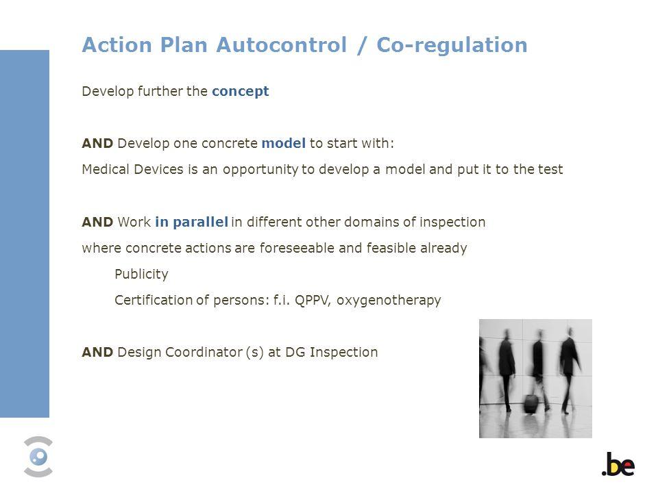 Action Plan Autocontrol / Co-regulation