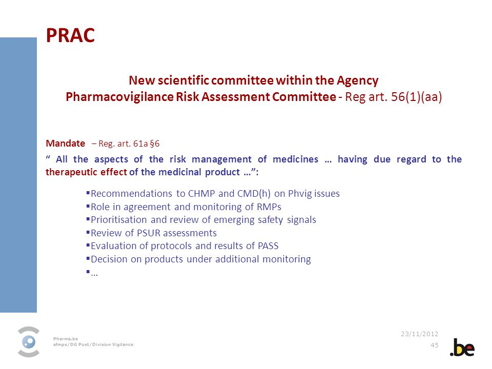 New scientific committee within the Agency