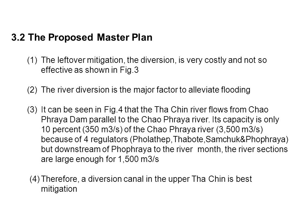 3.2 The Proposed Master Plan