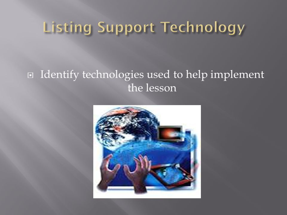 Listing Support Technology