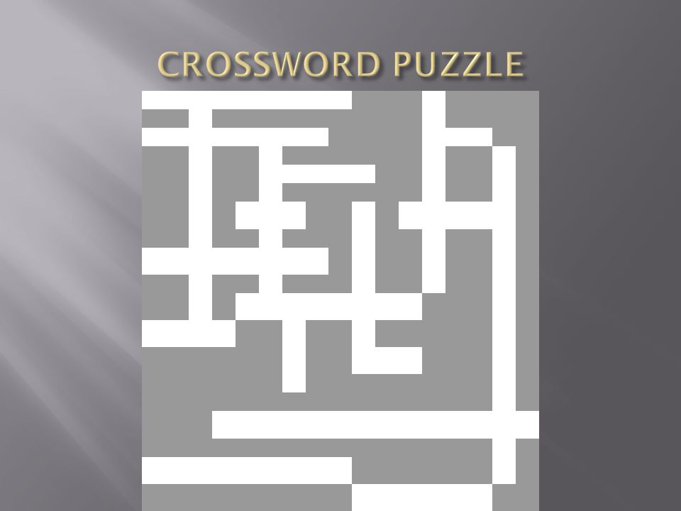 CROSSWORD PUZZLE 1 2 3 4 5 6 7 8 9 10 11 12 13 14 15 16 17 18 19