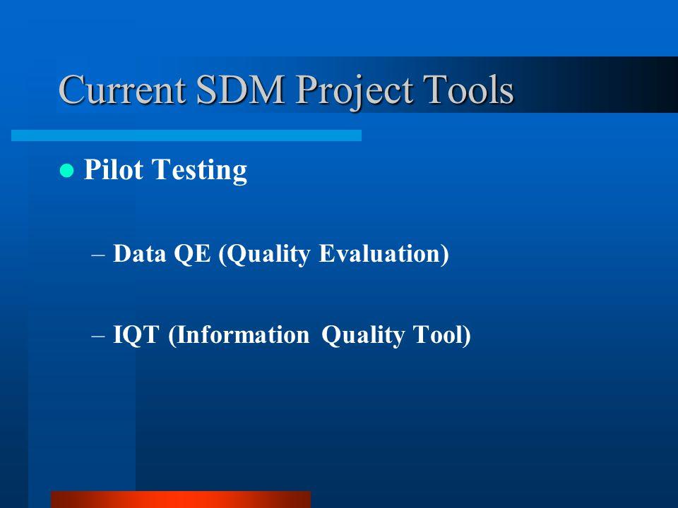 Current SDM Project Tools