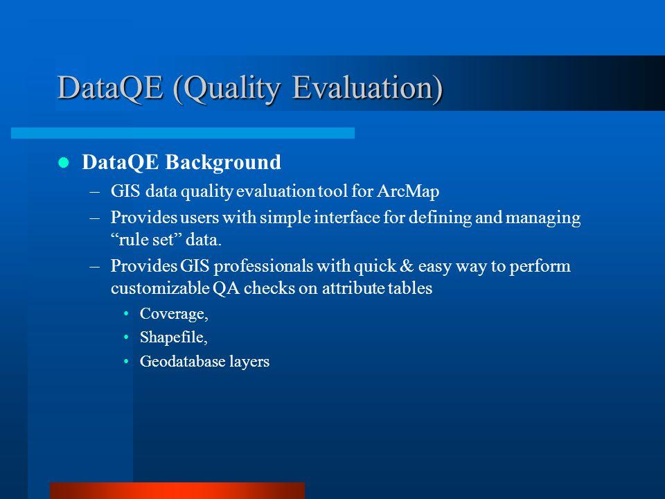 DataQE (Quality Evaluation)