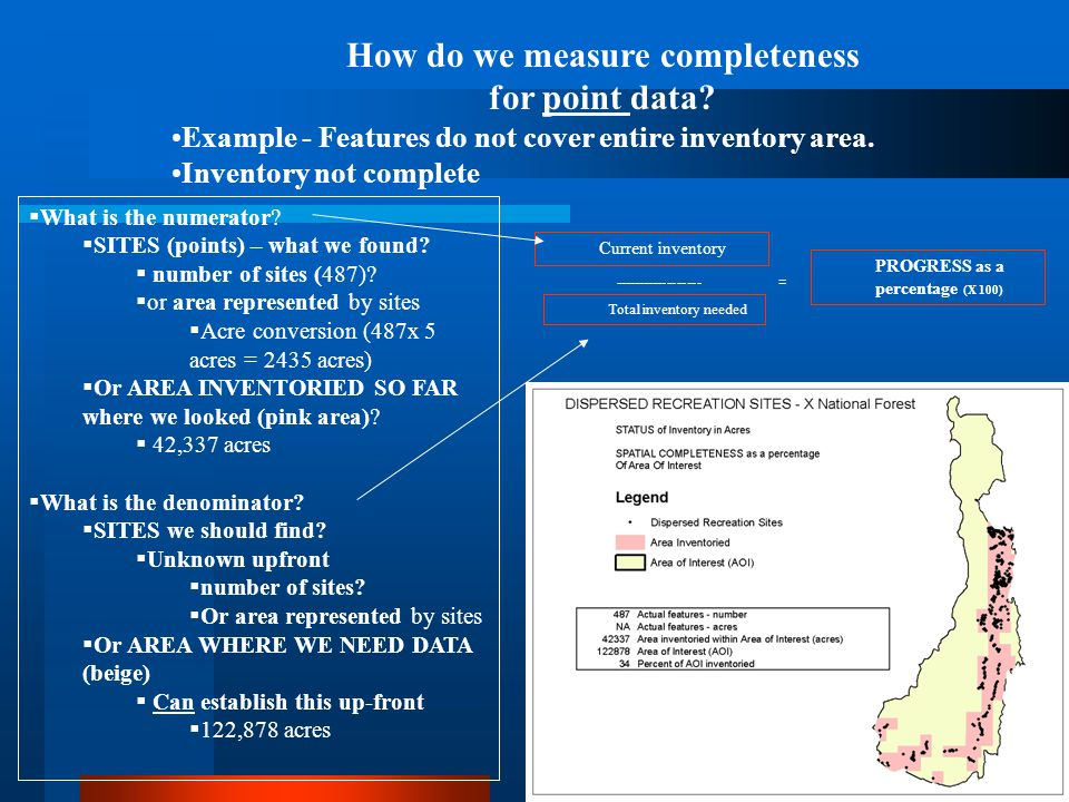 How do we measure completeness