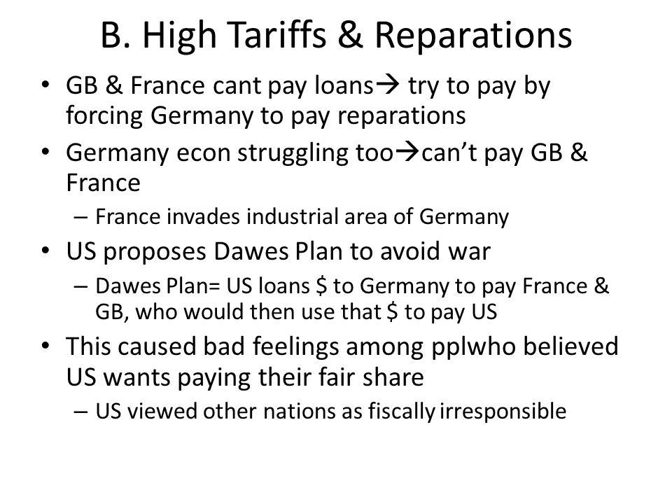 B. High Tariffs & Reparations