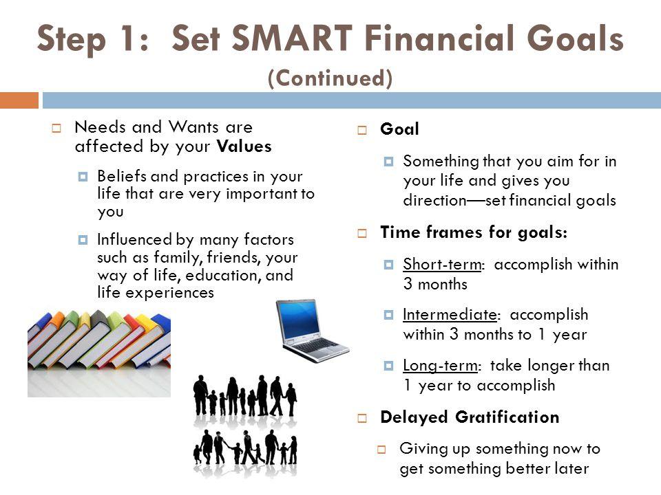 Step 1: Set SMART Financial Goals (Continued)