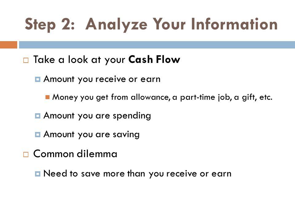 Step 2: Analyze Your Information