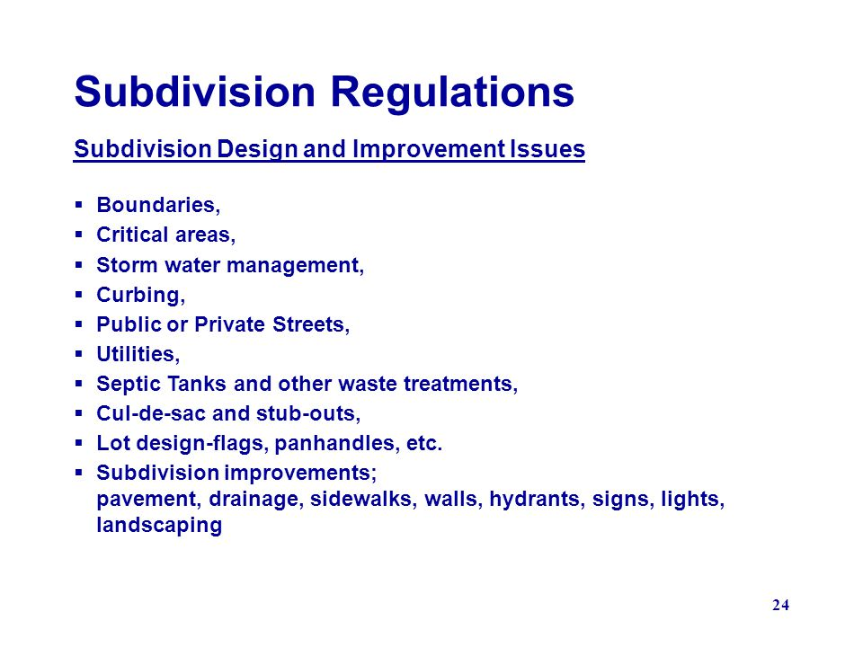 Subdivision Regulations