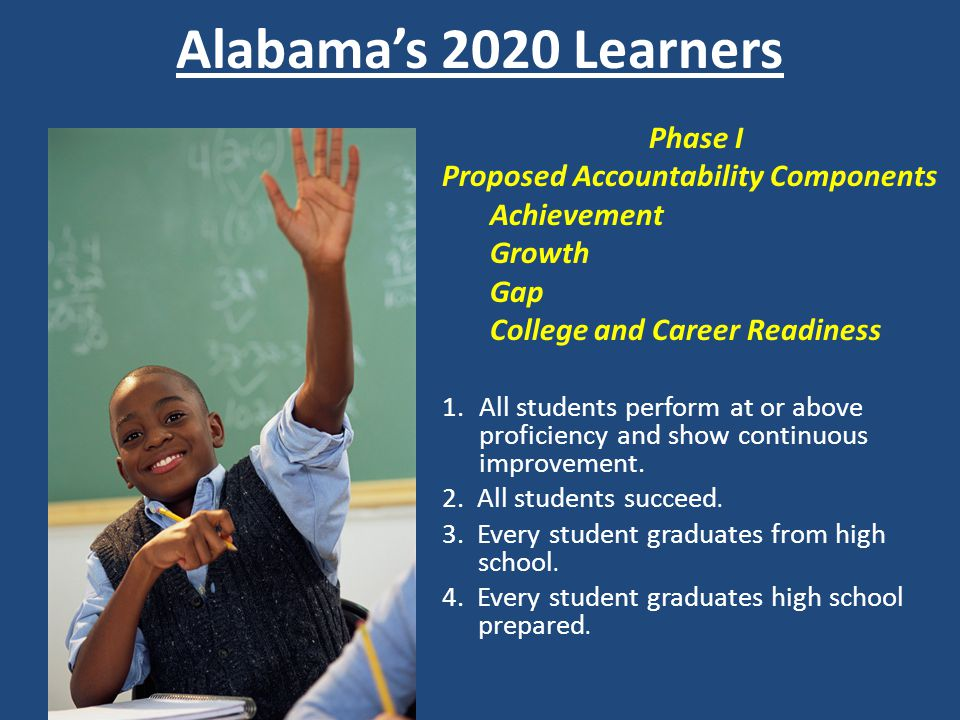 Alabama's 2020 Learners Phase I Proposed Accountability Components
