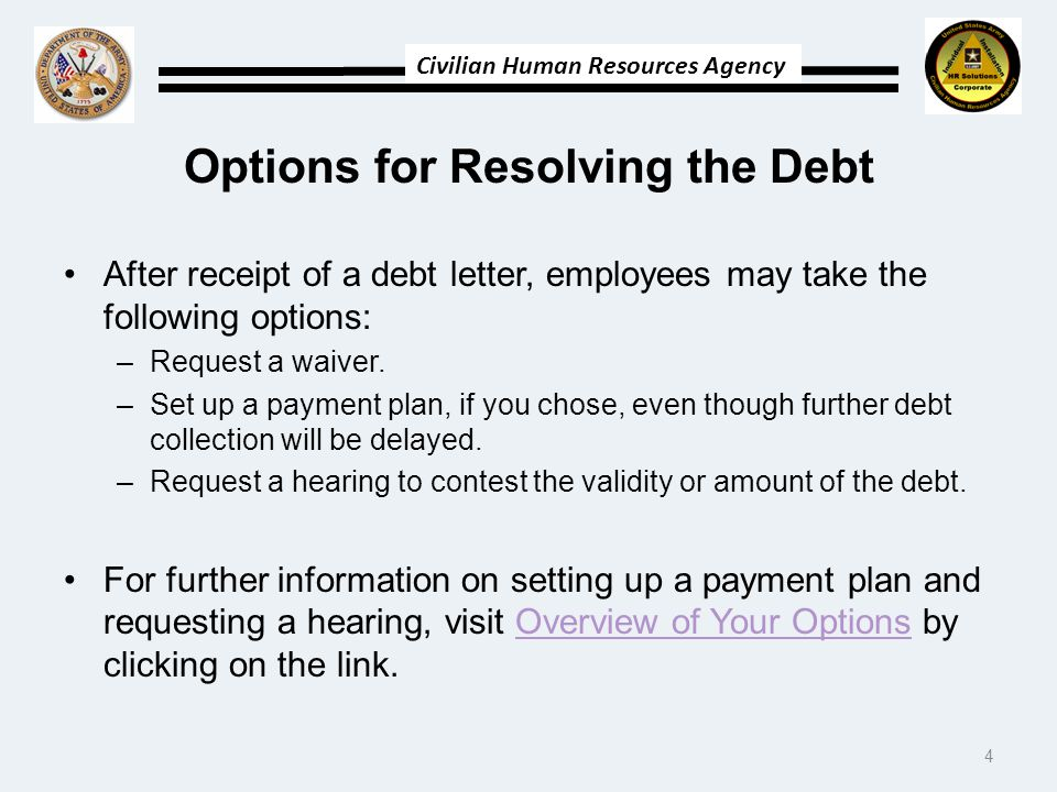 Options for Resolving the Debt