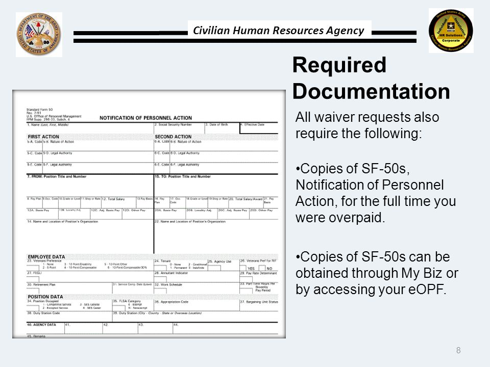 Required Documentation
