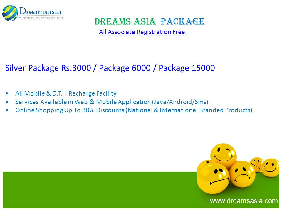 Silver Package Rs.3000 / Package 6000 / Package 15000