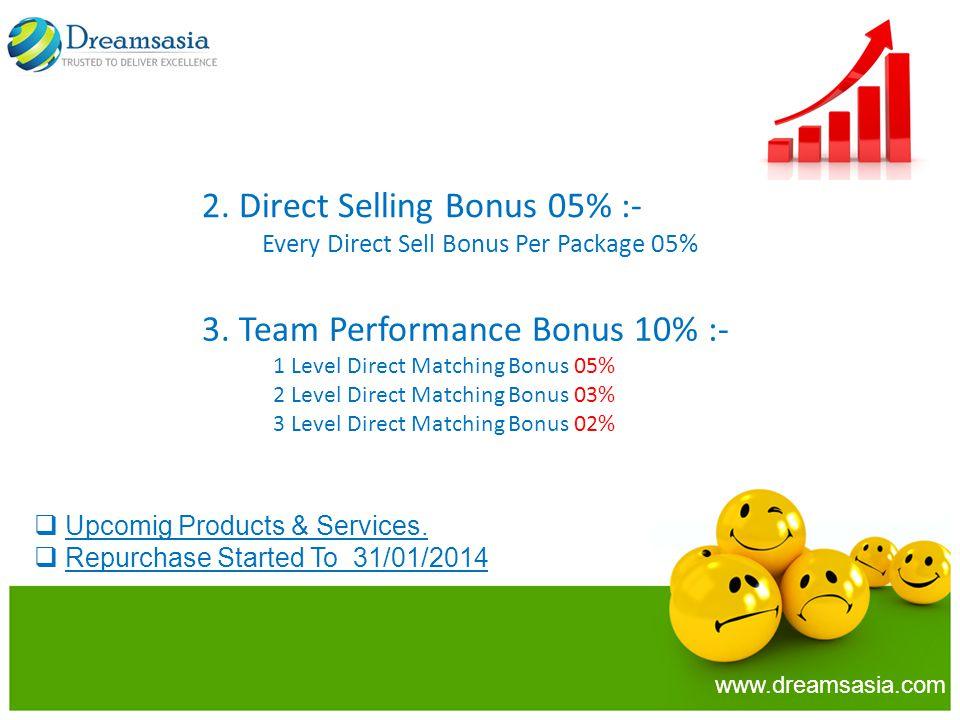 2. Direct Selling Bonus 05% :-