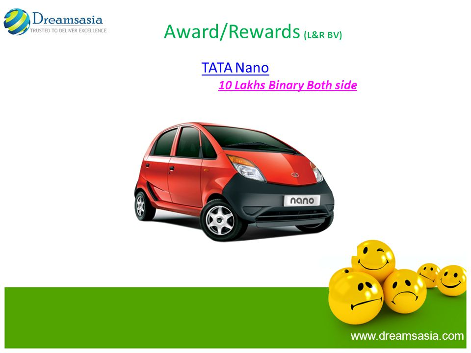 TATA Nano 10 Lakhs Binary Both side www.dreamsasia.com