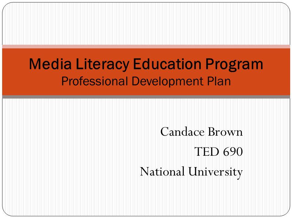 Media Literacy Education Program Professional Development Plan