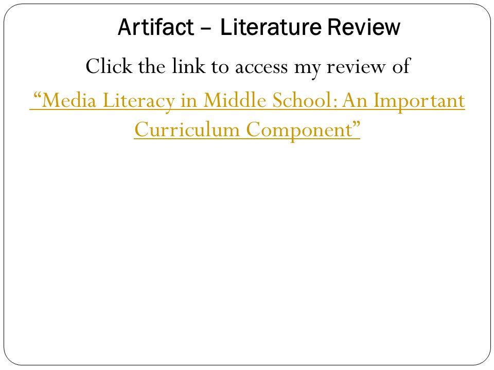 Artifact – Literature Review