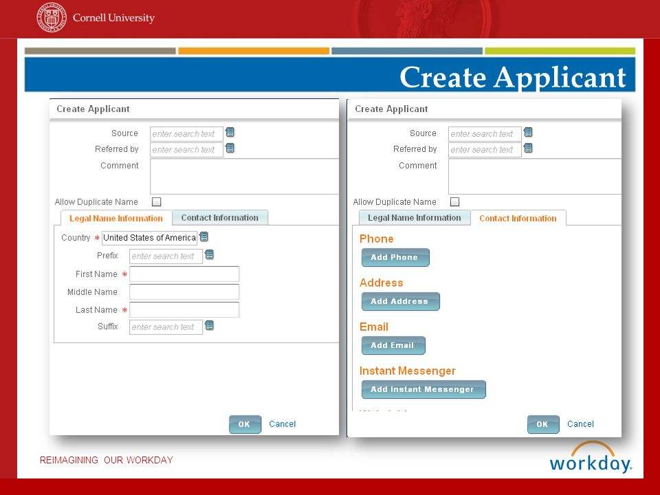 Create Applicant Critical: