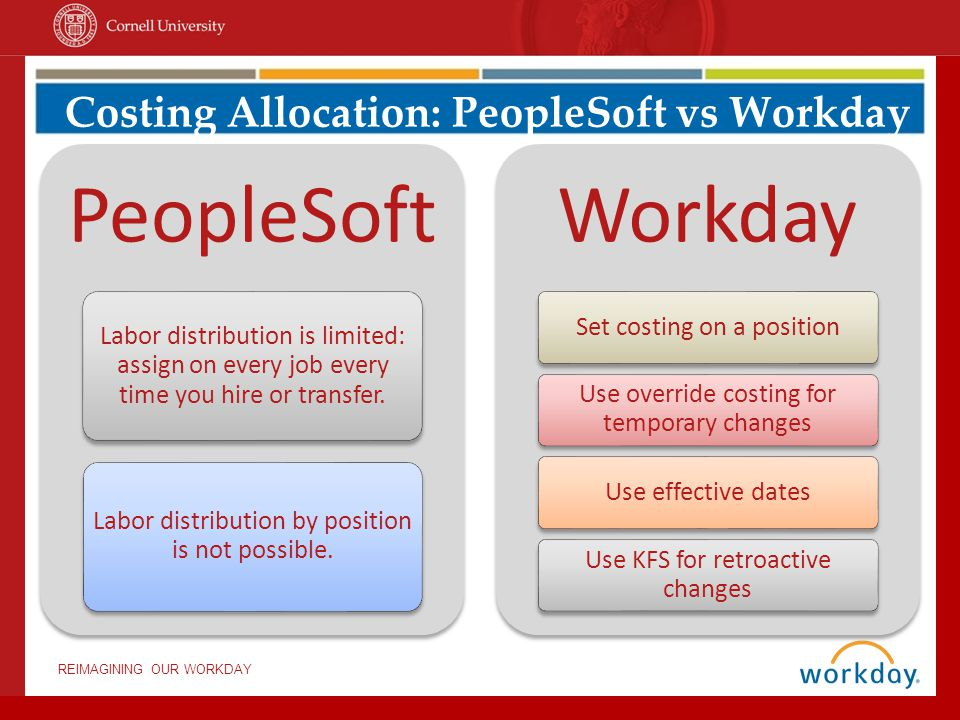 Costing Allocation: PeopleSoft vs Workday