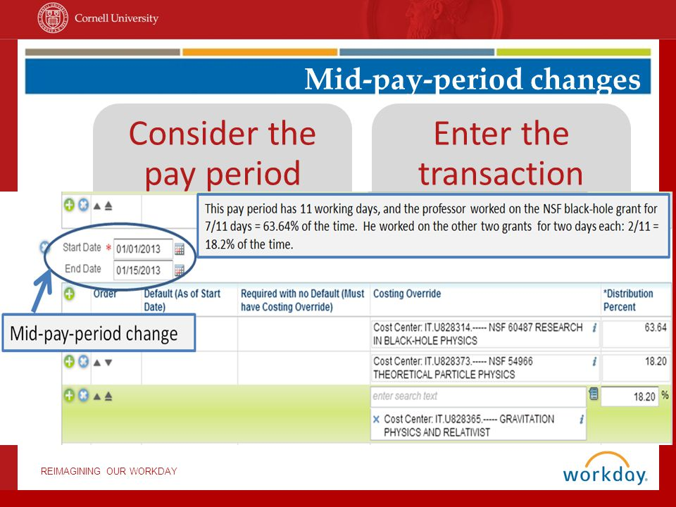 Mid-pay-period changes
