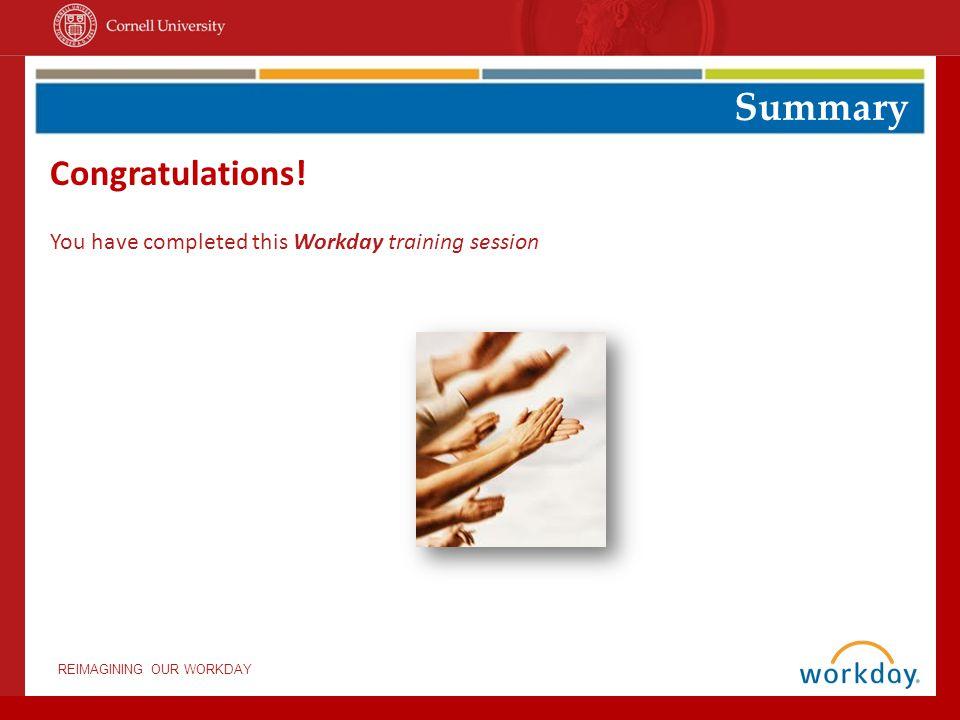 Summary Congratulations!