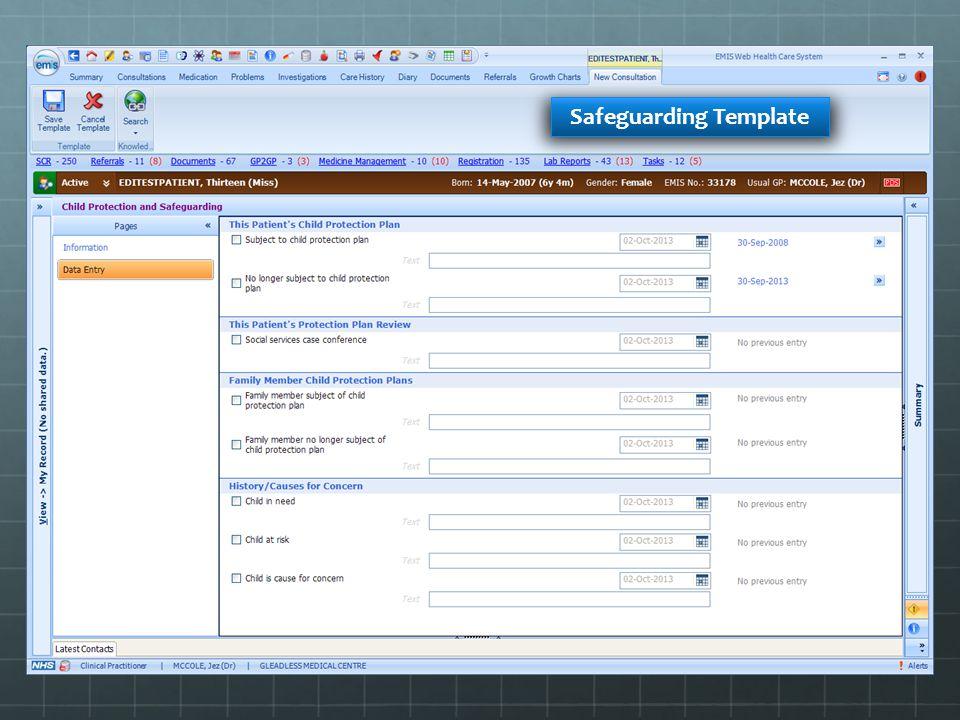 Safeguarding Template