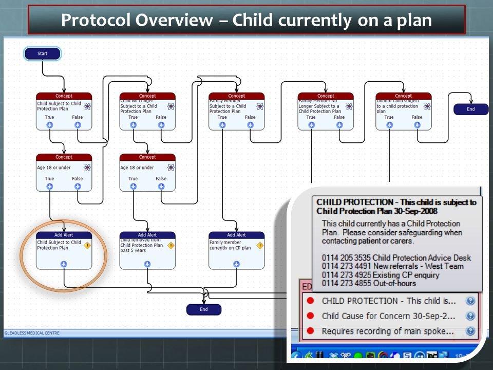 Protocol Overview – Child currently on a plan