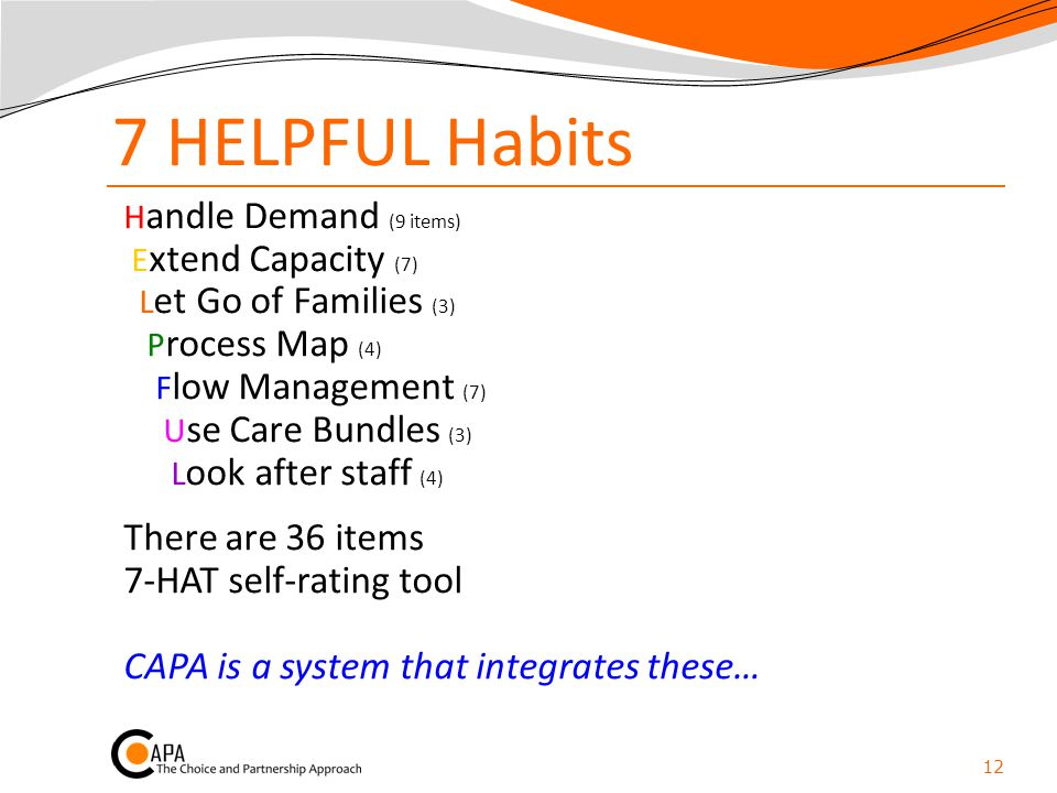 7 HELPFUL Habits There are 36 items 7-HAT self-rating tool
