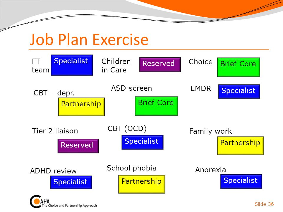Job Plan Exercise FT team Specialist Children in Care Choice Reserved