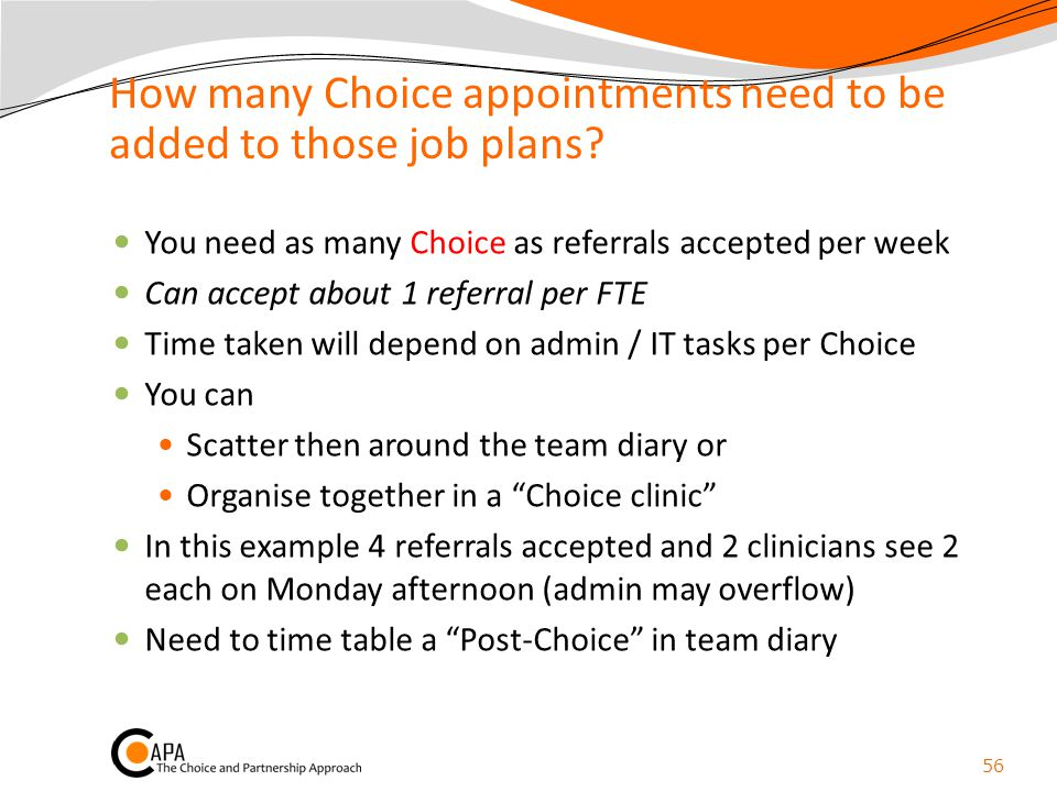 How many Choice appointments need to be added to those job plans